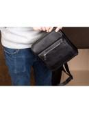 Фотография Черная плечевая сумка - мессенджер Blamont Bn101A
