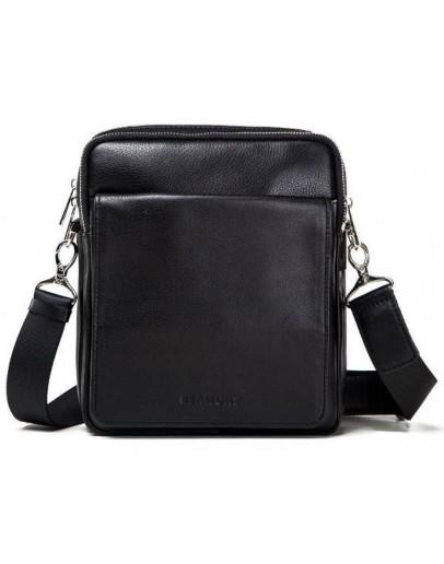 Фотография Черная сумка на плечо из гладкой кожи Blamont Bn102A