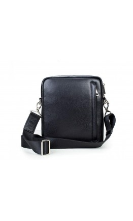 Черная сумка на плечо из гладкой кожи Blamont Bn102A