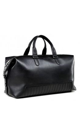 Черная большая кожаная дорожная сумка Bn105A