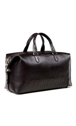 Коричневая большая кожаная дорожная сумка Bn105c