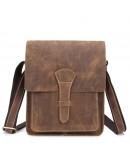 Фотография Коричневая мужская сумка на плечо, коричневая Bx007