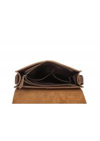 Коричневая мужская сумка на плечо, коричневая Bx007