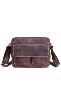 Кожаная мужская сумка на каждый день, коричневая Bx008
