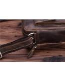 Фотография Кожаная мужская сумка на каждый день, коричневая Bx008