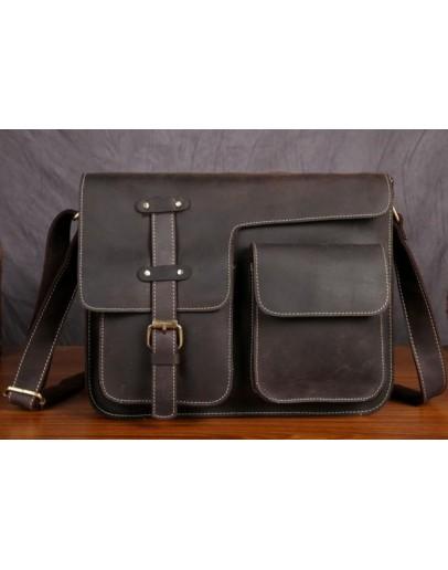 Фотография Мужская кожаная сумка на плечо, вместительная Bx009