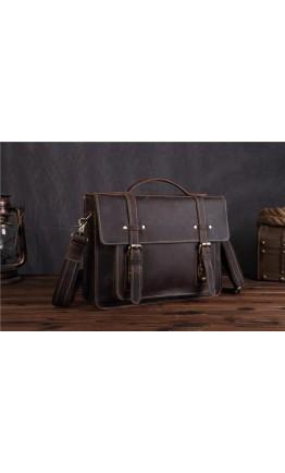 Кожаный портфель мужской, коричневый цвет Bx010