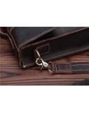Фотография Кожаный портфель мужской, коричневый цвет Bx010