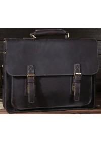 Мужской кожаный портфель коричневого цвета Bx014
