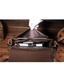 Фотография Мужская кожаная сумка коричневого цвета Bx017