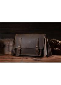 Мужская кожаная сумка коричневого цвета Bx017