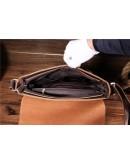 Фотография Кожаная сумка мужская коричневая Bx018