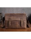 Фотография Вместительная мужская кожаная сумка на плечо Bx019