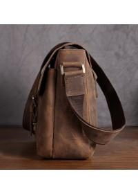 Вместительная мужская кожаная сумка на плечо Bx019