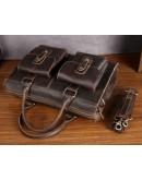 Фотография Кожаная мужская стильная сумка коричневая Bx020
