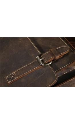 Мужской кожаный коричневый мессенджер на плечо Bx045