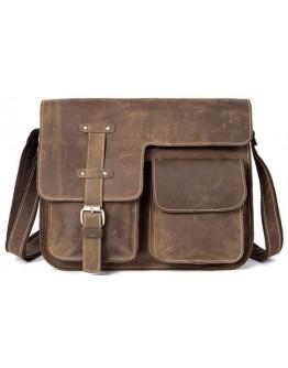 Винтажная мужская кожаная коричне-рыжая сумка на плечо Bx1050-2