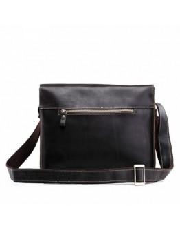 Коричневая кожаная сумка мужская на плечо Bx1050