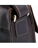 Фотография Коричневая кожаная сумка мужская на плечо Bx1050