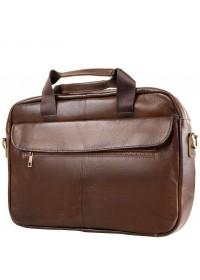 Коричневая сумка деловая для мужчин Bx1127C