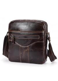 Коричневая удобная мужская сумка на плечо Bx1184C