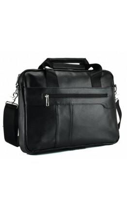Кожаная мужская сумка черного цвета на каждый день Bx1275A