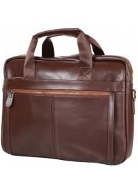 Кожаная коричневая мужская деловая сумка Bx1279C