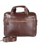 Фотография Кожаная коричневая мужская деловая сумка Bx1279C