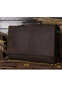 Мужской портфель кожаный мужской, коричневый Bx2651