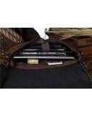 Фотография Мужской портфель кожаный мужской, коричневый Bx2651