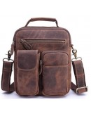 Фотография Деловая мужская кожаная сумка, коричневая Bx3552