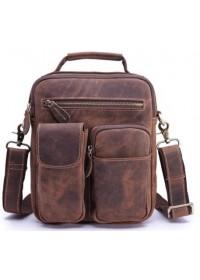 Деловая мужская кожаная сумка, коричневая Bx3552