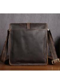Кожаная сумка мужская через плечо, коричневая Bx5867