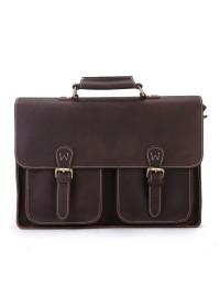 Кожаный портфель мужской, темно-коричневый цвет Bx6922