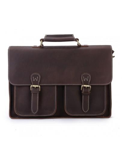 Фотография Кожаный портфель мужской, темно-коричневый цвет Bx6922