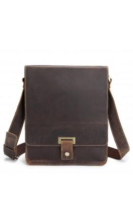 Мужской кожаный мессенджер, коричневый цвет Bx7055