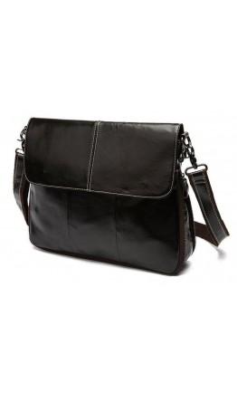 Коричневая сумка планшетка на плечо из кожи Bx8007C