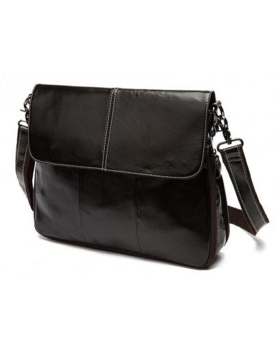 Фотография Коричневая сумка планшетка на плечо из кожи Bx8007C