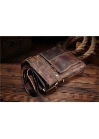 Мессенджер мужской кожаный, коричневый цвет Bx8029-1