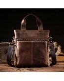 Фотография Кожаная сумка мужская коричневая Bx8029-2