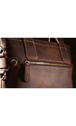 Кожаная сумка мужская коричневая Bx8029-2