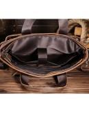 Фотография Кожаная мужская сумка для ноутбука, коричневый цвет Bx8029-3