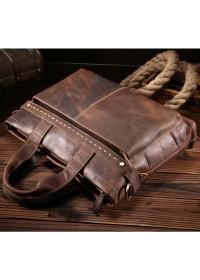 Кожаная мужская сумка для ноутбука, коричневый цвет Bx8029-3