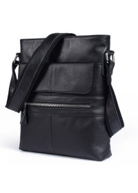 Черный мессенджер мужской кожаный Bx8120A