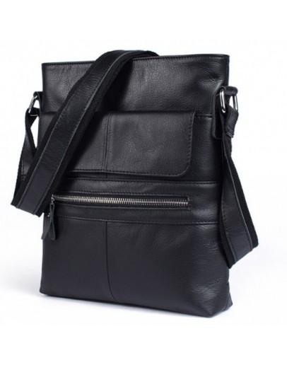 Фотография Черный мессенджер мужской кожаный Bx8120A