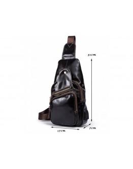 Мужской коричневый кожаный слинг Bx8123B