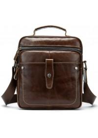 Вместительная коричневая мужская сумка с ручкой Bx8713C