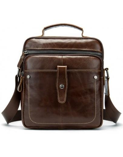 Фотография Вместительная коричневая мужская сумка с ручкой Bx8713C