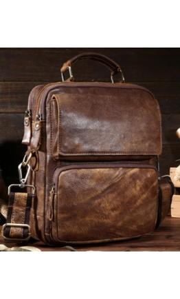 Коричневый кожаный мужской мессенджер, мужской Bx8795