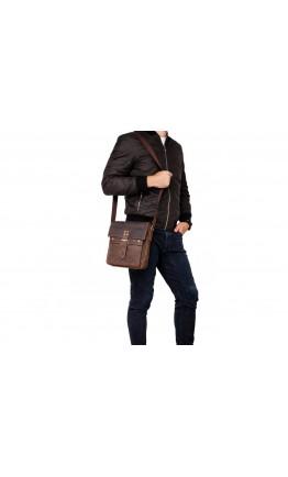Коричневая удобная мужская сумка через плечо Bx9040DB